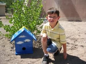 Adrian Valencia & his birdhouse
