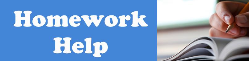 Homework Help Banner