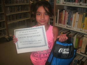 SRP 2015 Young Readers Winner Lexie Martinez