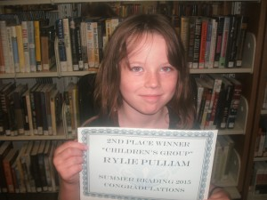 SRP 2015 Young Readers 2nd Place Rylie Pulliam